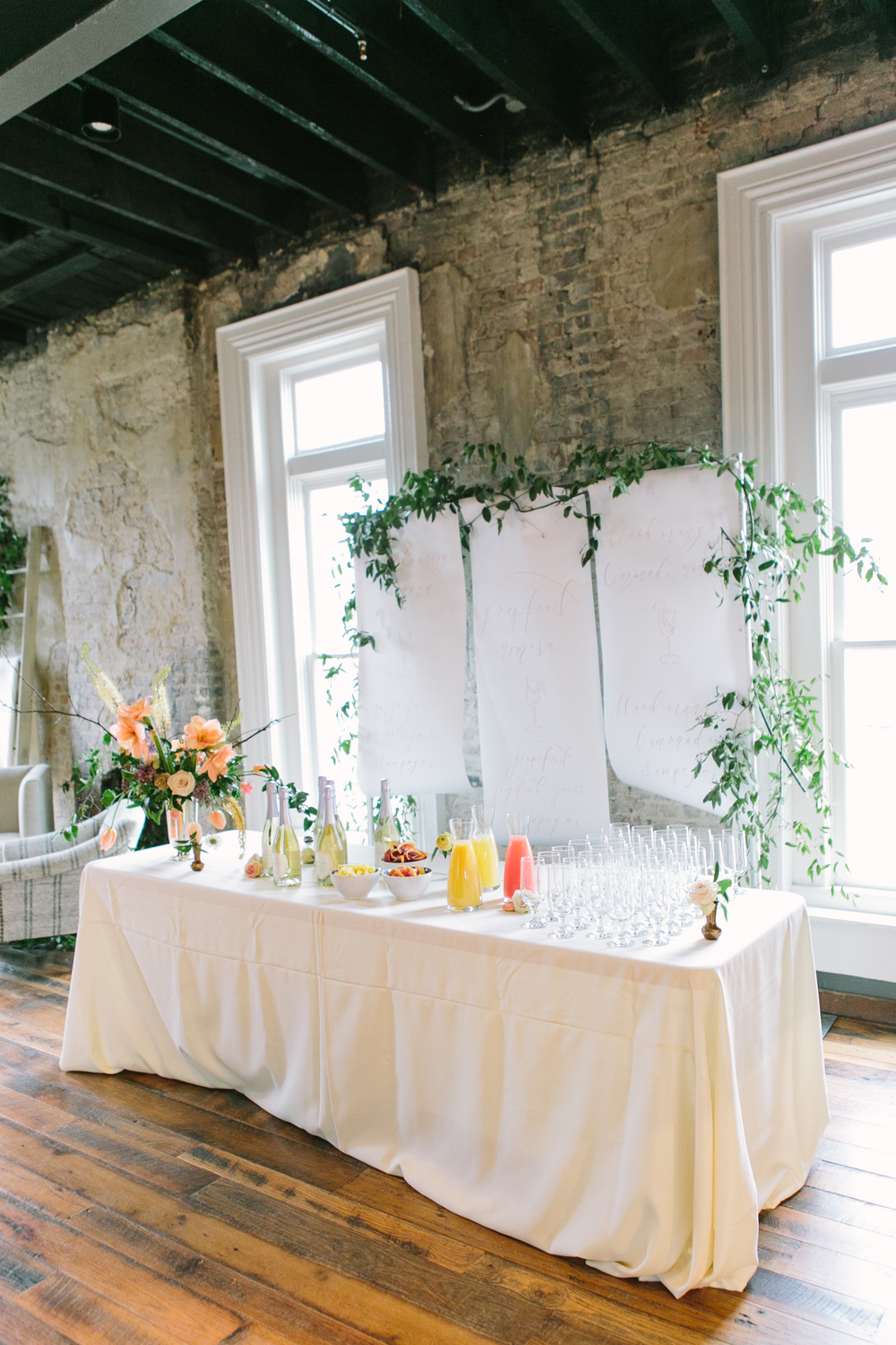 Mimosa Bar Inspiration | The Cordelle | The School of Styling Nashville - A three-day hands-on workshop for creative entrepreneurs. Photo by Love, the Nelsons. http://www.theschoolofstyling.com