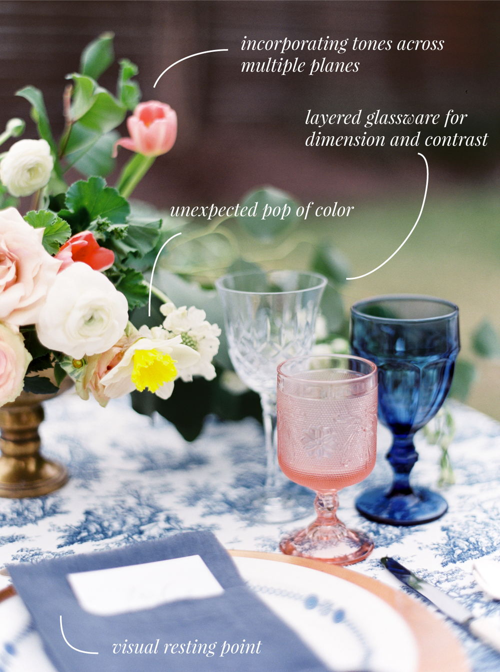 3 Ways to Make Your Tabletop Design Pop | The School of Styling | Love, The Nelsons Photography | www.theschoolofstyling.com