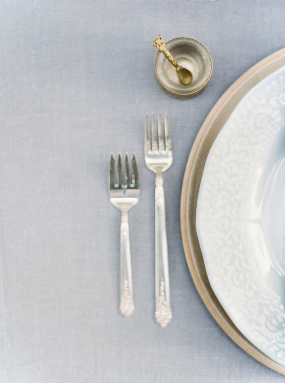 Vintage silverware-flatware-wedding reception-rustic weddings-place setting inspiration-