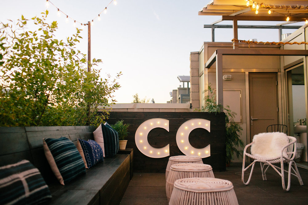 Jaclyn Johnson of Creative & Cultivate Office Tour | Rooftop patio inspiration | The School of Styling - http://www.theschoolofstyling.com