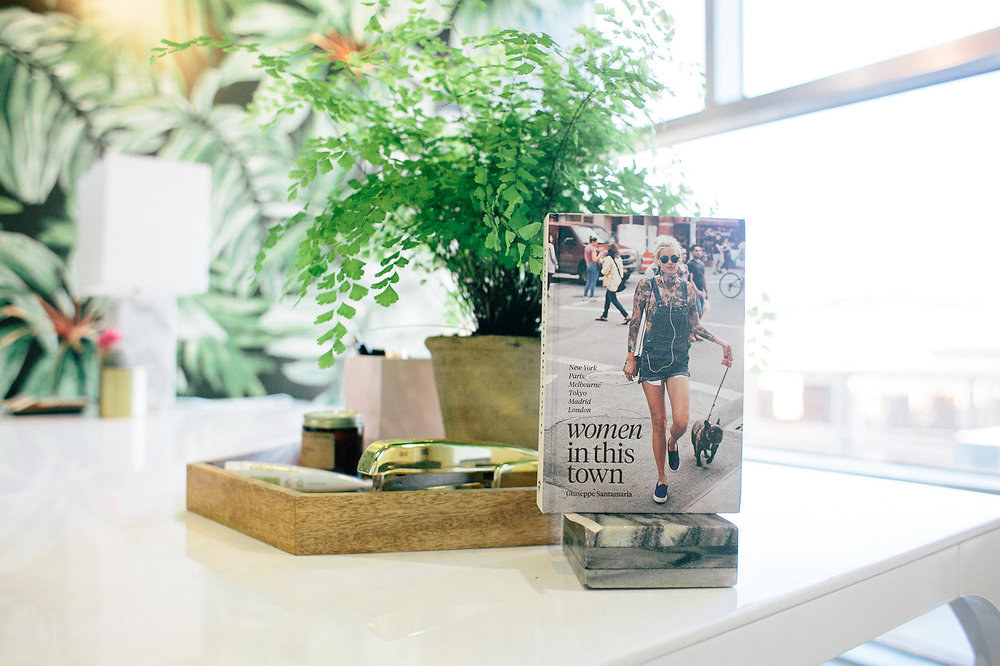 Modern office inspiration | Create & Cultivate Tour | Wallpaper Inspiration | The School of Styling - http://www.theschoolofstyling.com