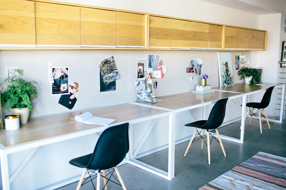 Modern office space inspiration | Individual workspaces | Create & Cultivate Office Tour | The School of Styling - http://www.theschoolofstyling.com