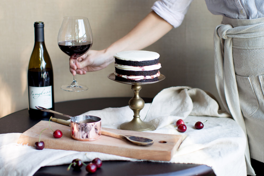 Cake Bloom + Panglass Collaboration | Pinot Noir Caramel Sauce | Baking with red wine | The School of Styling - http://www.theschoolofstyling.com