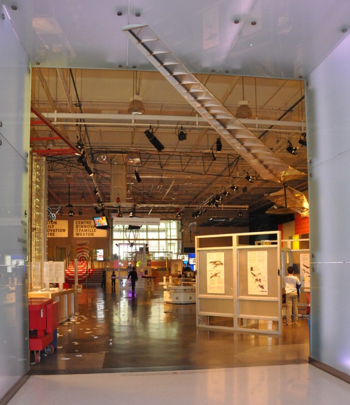 View of Atlas when entering the Weston Family Innovation Center (Photo by Ontario Science Centre)