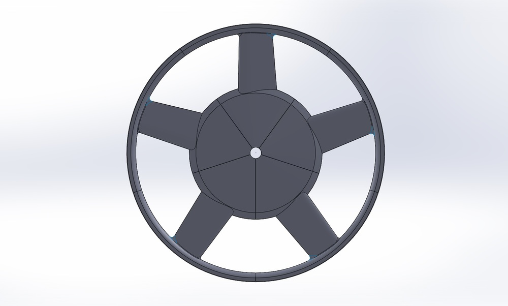 Optimized penta-spoke wheel design.