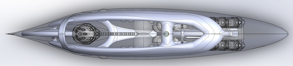 Top view of the final shape of Eta.