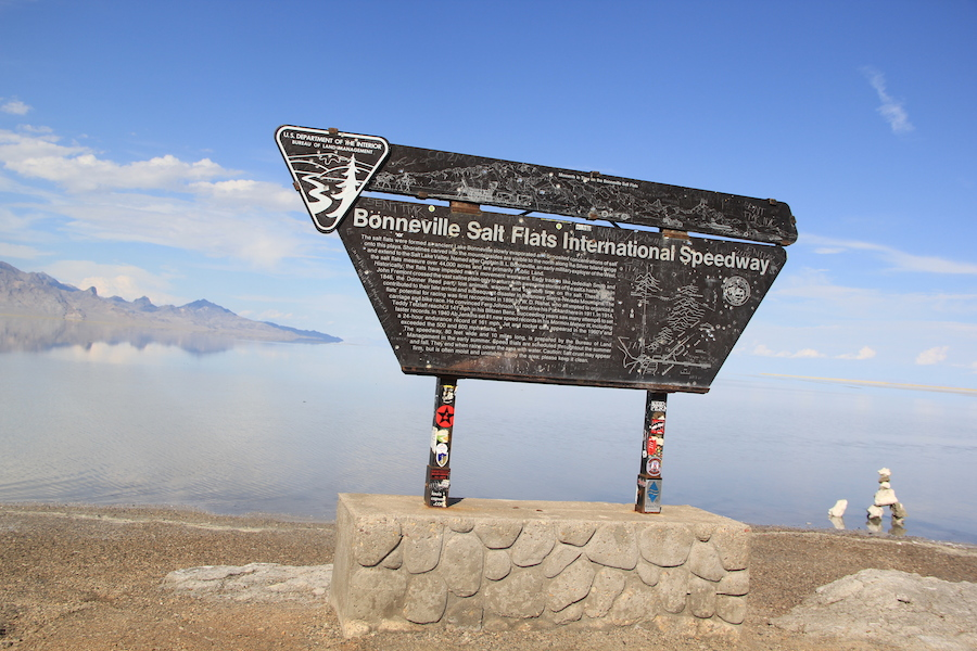 Bonneville Salt Flats International Speedway, with a distinctly Canadian touch.
