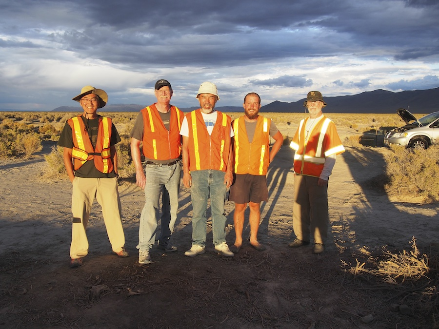 The timing team, a small sampling of the volunteers required to run Battle Mountain.