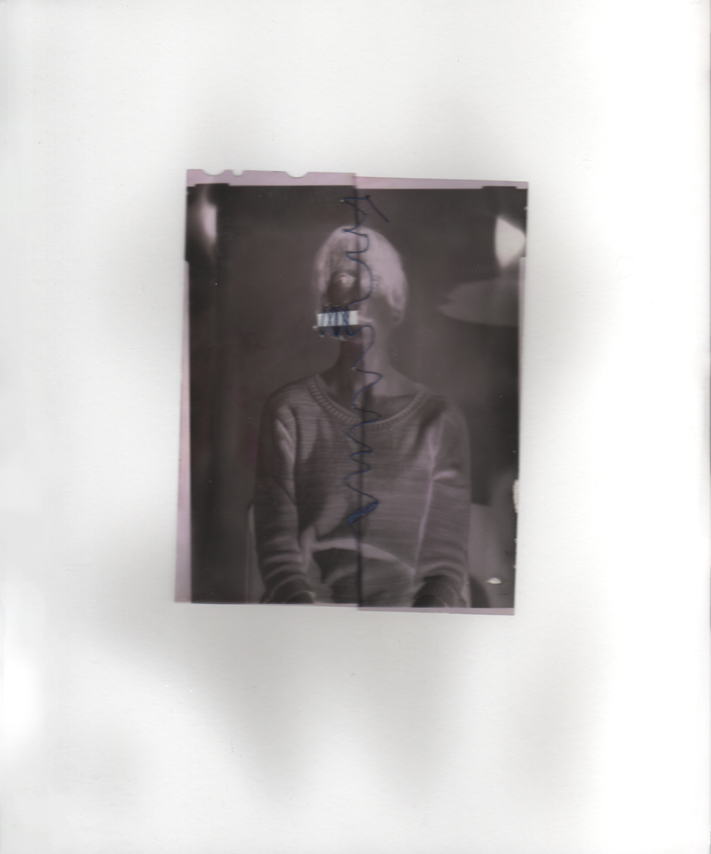 Ariana Brown, Stiched Negative 2, large format negatives and thread, 8x10, Fall 2015.jpg