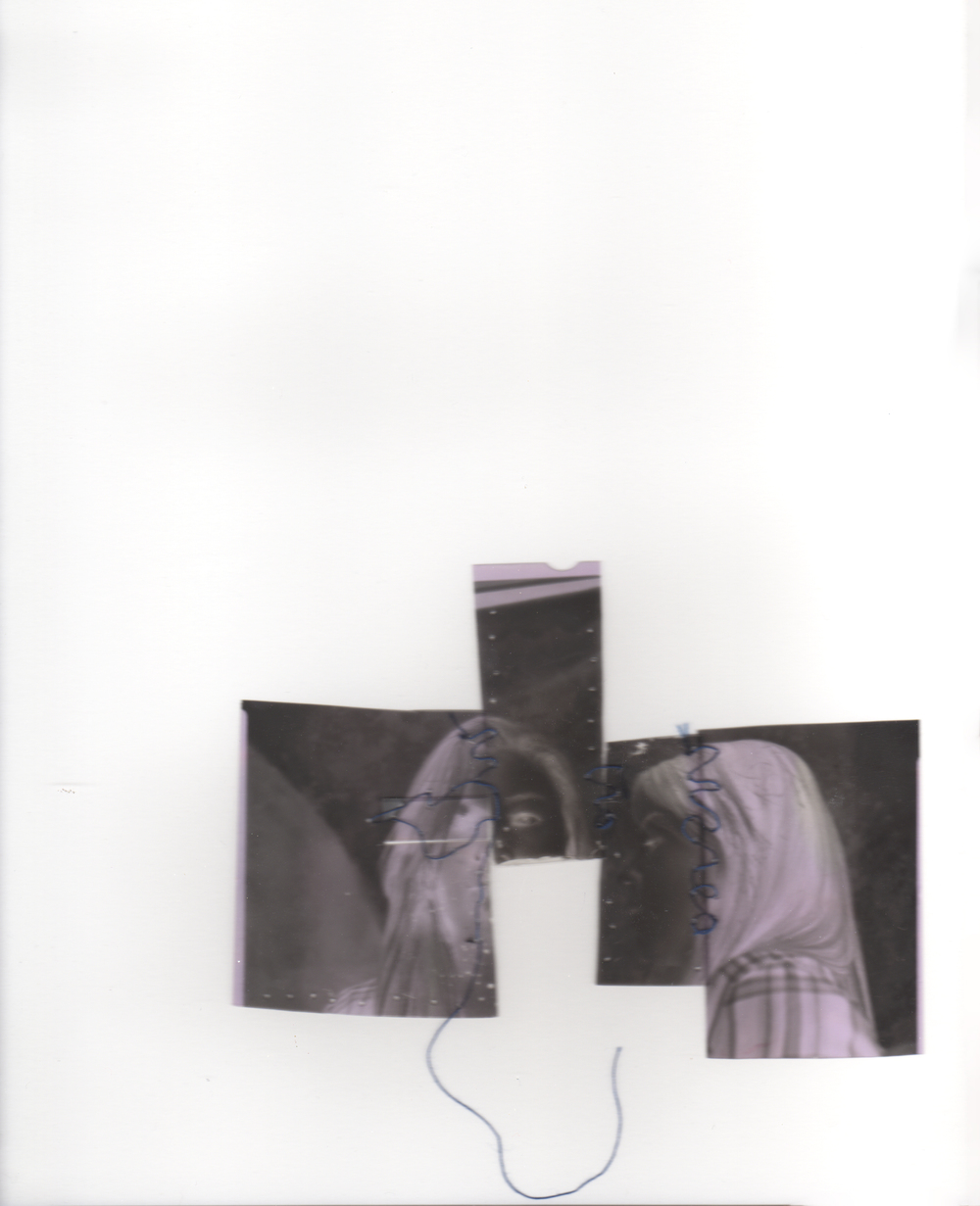 Ariana Brown, Stiched Negative 3, large format nagatives and thread, 8x10, Fall 2015.jpg