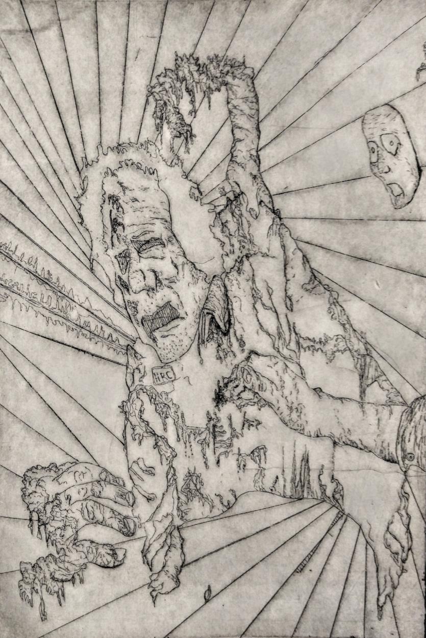 Death of Muammar Gaddafi,8-X11-, Intaglio Print .jpg