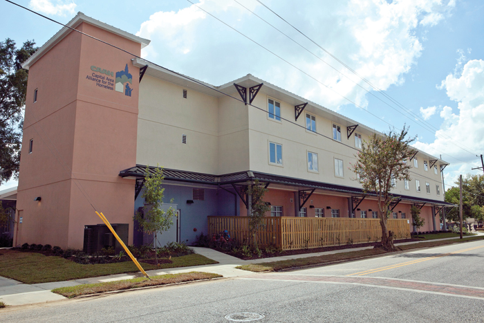 The one-stop services center offers 36 beds and a variety of homeless services.