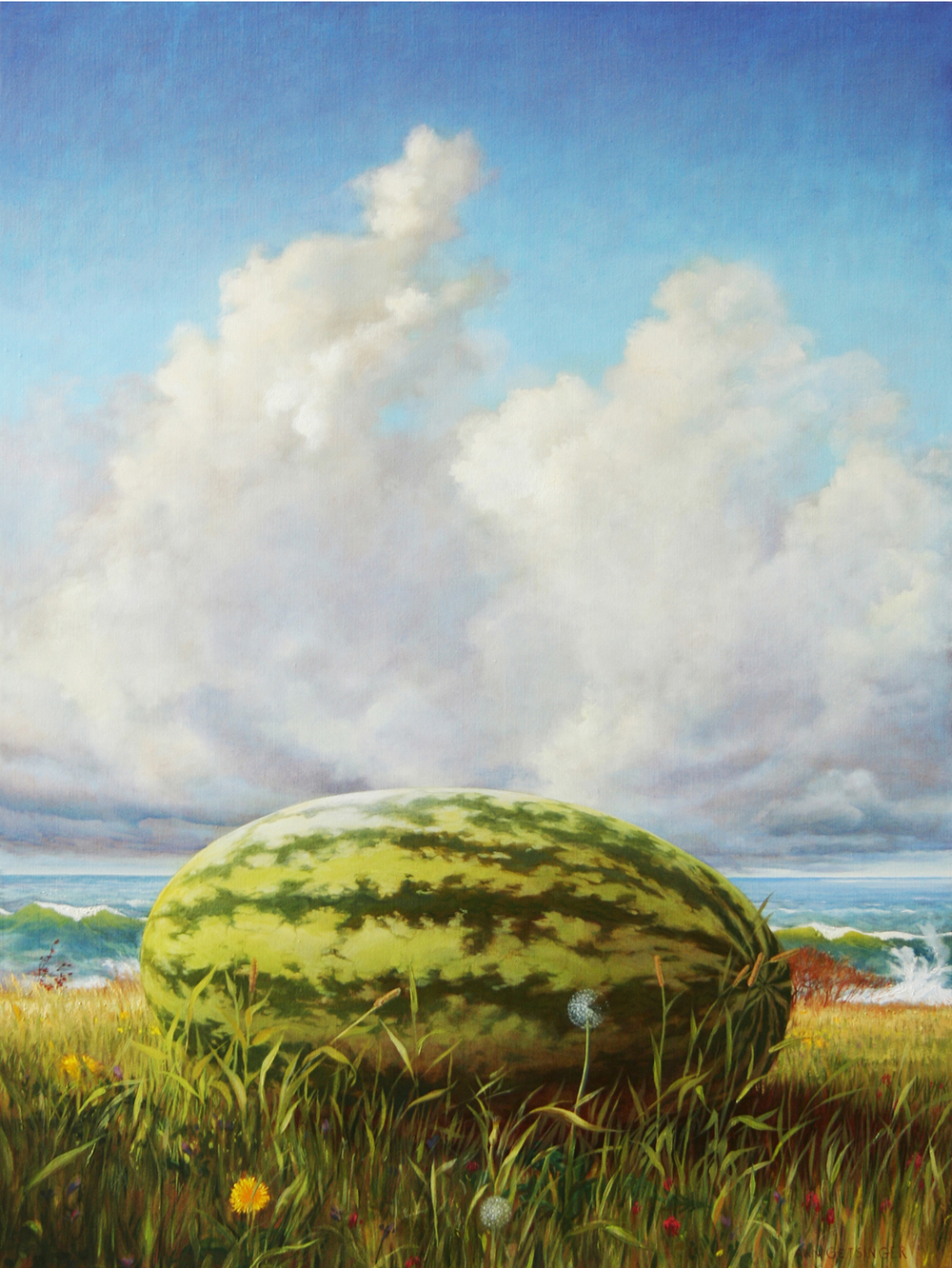 "Float  40"" x 30"" 2006, oil on linen"