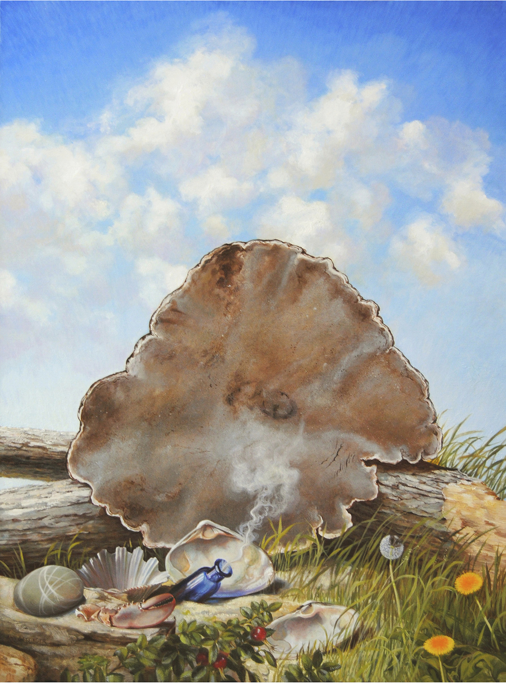 "Fungus Ashore 40"" x 30"" 2010, oil on linen"