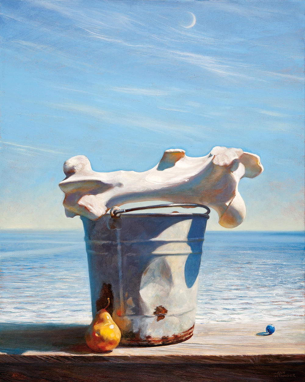 "Agri Aqua  30"" x 24"", 2013, oil on linen"