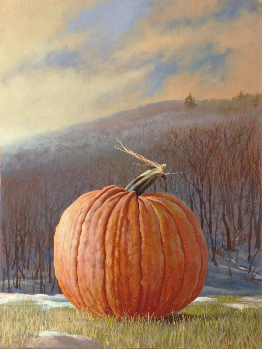 "Pumpkin and Wolf Pine   40"" x 30"" 2004, oil on linen"