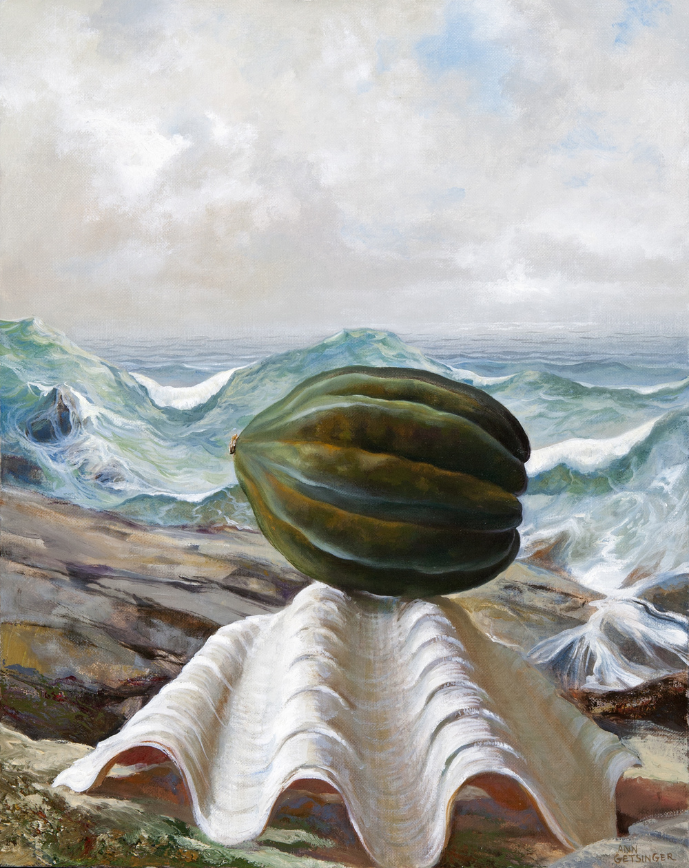 "Squash and Shore  20"" x 16"" 2013, oil on linen"