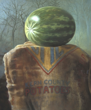 "Super Melon  24"" x 18"" 2008, oil on linen"