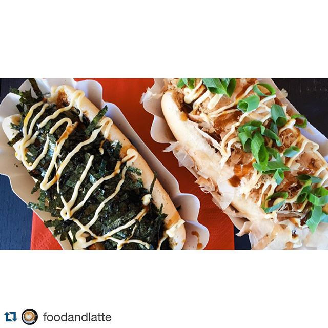 #eastMeatsWest #Repost @foodandlatte Close-up of Japanese Fusion HotDog porn 👌 #japanesehotdog #jdog #shoreditch #streetfood #lunchtime #londoneats #londonfoodie #hotdogs #wanderlust #explore #foodie #ilovefood #vsco #vscocam