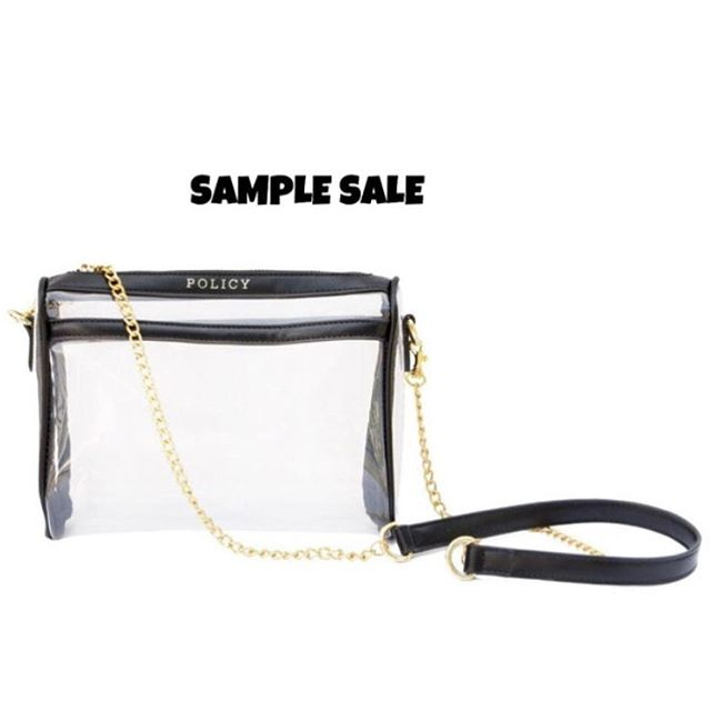 Head to Policy Handbags now to get your hands on their killer festival-ready bags at crazy prices! #samplesale #policyhandbags #festivalstyle #concertstyle #clearbags #neednow
