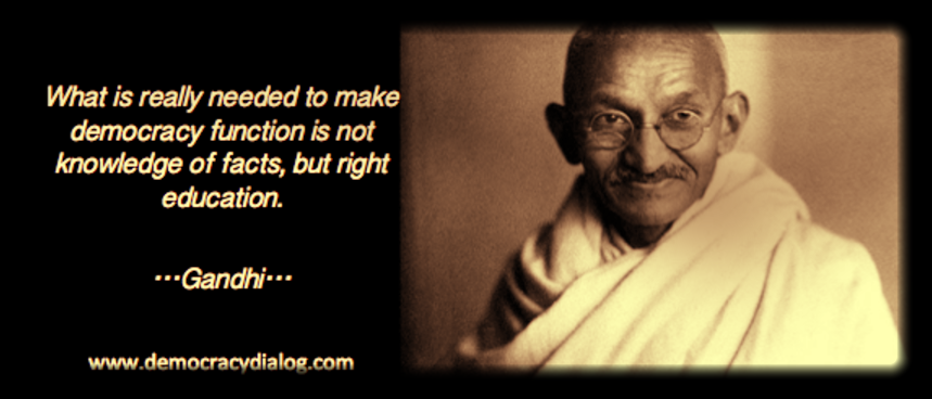 Gandhi-education