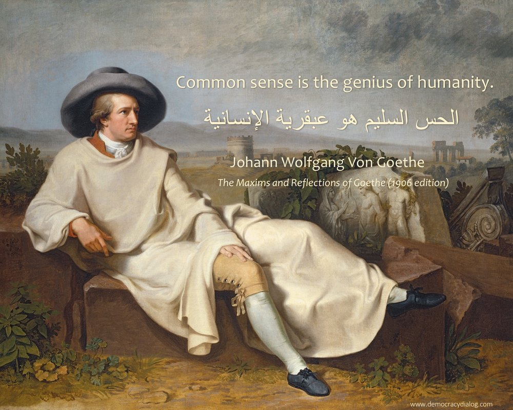 Goethe-common sense