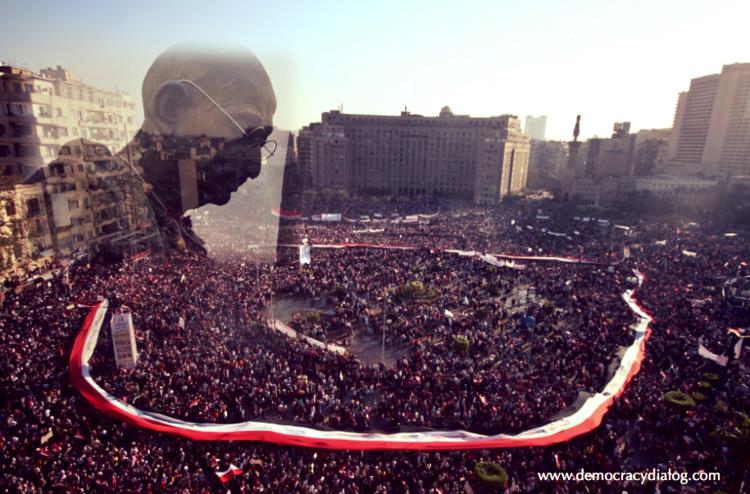 غاندي في ميدان التحرير