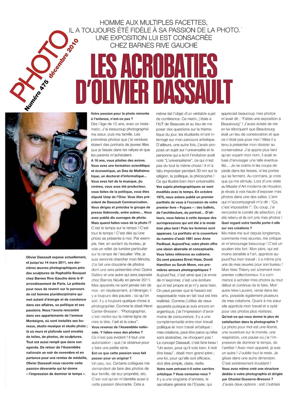 Magazine PHOTO - décembre 2010