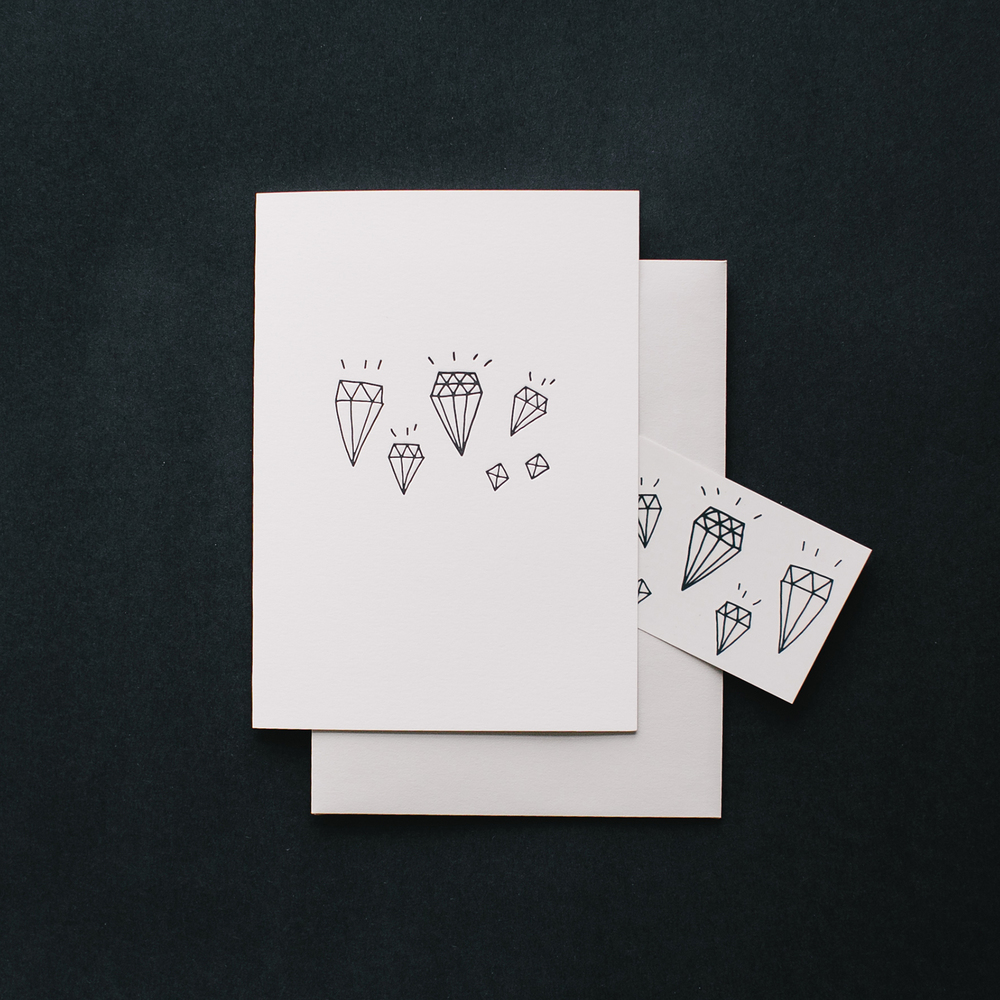Tattly Cards: one real card, one fake tattoo!