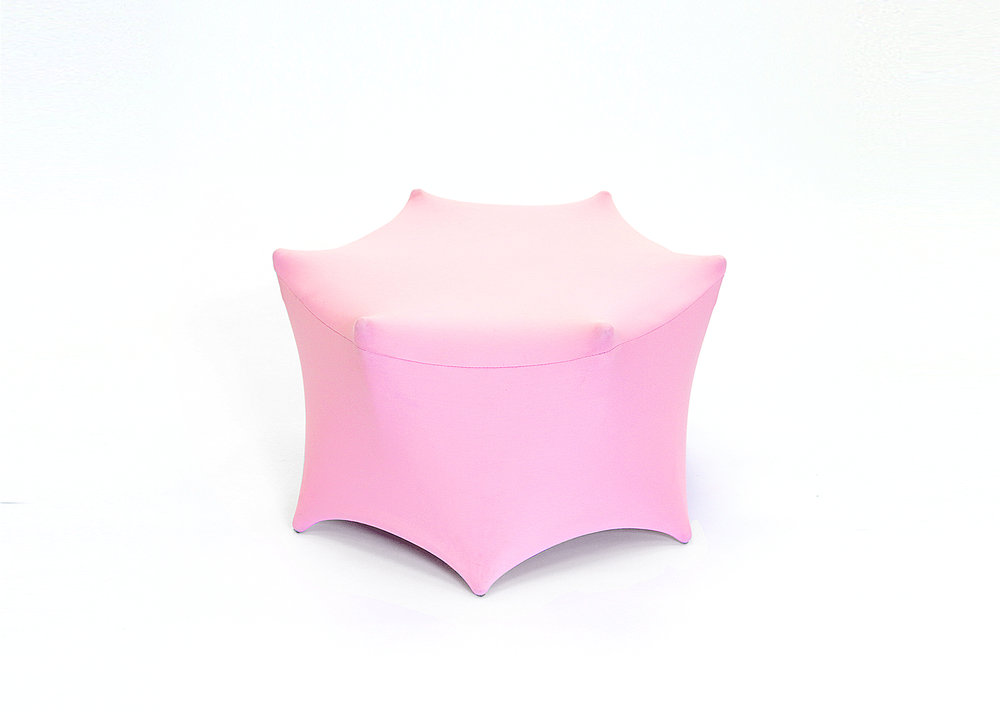 "BunnyTale Cafe Bubblegum Rose Stool (26"" x 26"" x 14"")"