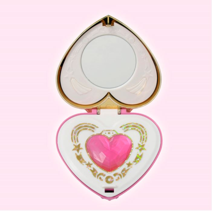 The 20th anniversary Sailor Moon Cosmic Heart Mirror Compact Interior by Bandai