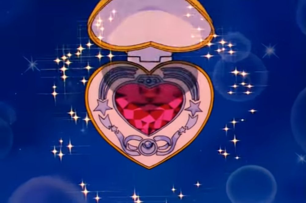 Sailor Moon's Cosmic Heart Mirror Compact Interior as seen on TV