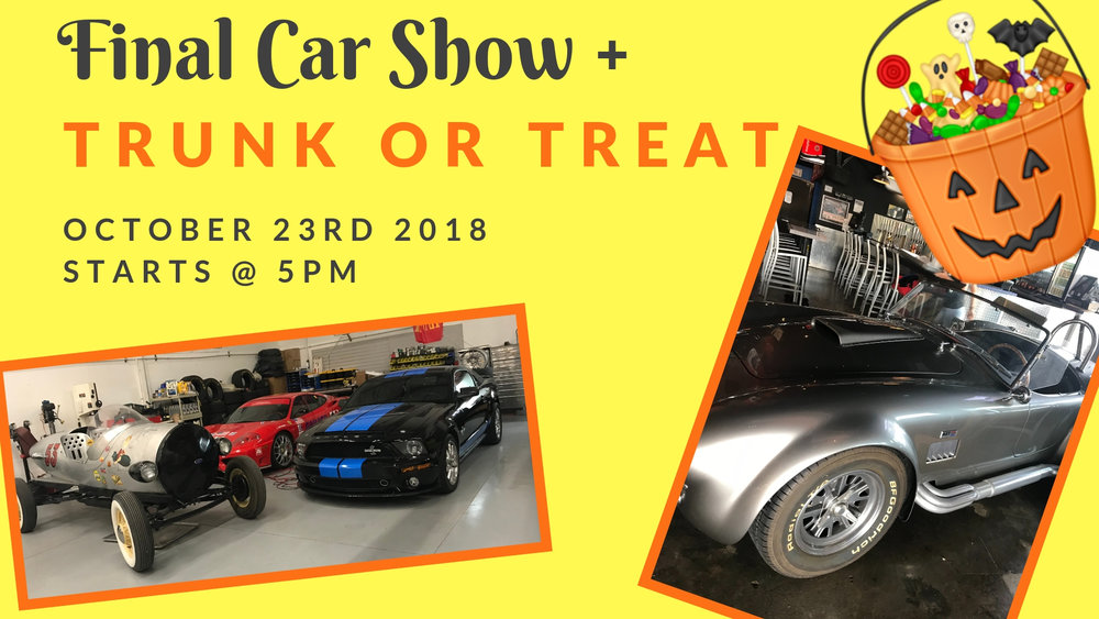 Final Car Show Trunk Or Treat Style The Garage Grill Restaurant