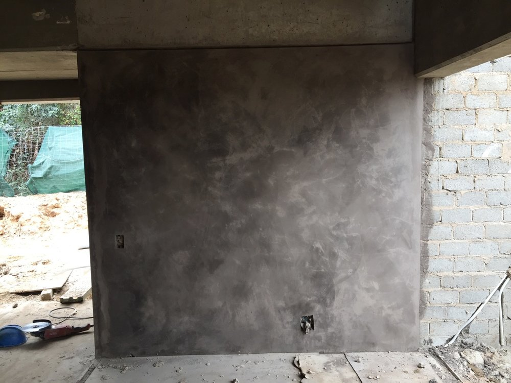 Fresh plaster