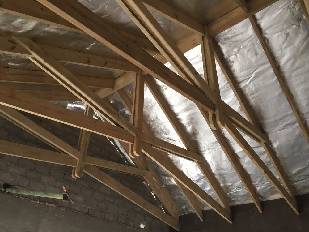 Trusses & radiant barrier