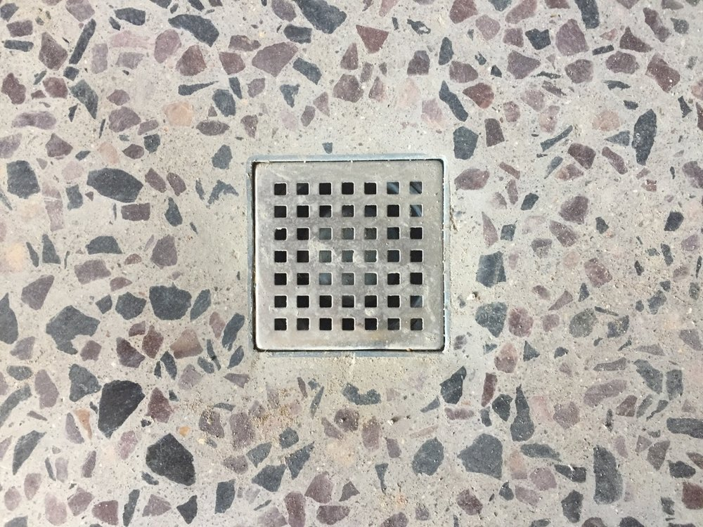 Shower drain & aggregate