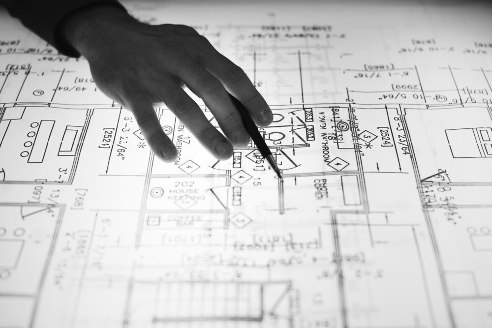 Building Plans - Drawn instructions for contractors to aid them in constructing a building correctly.