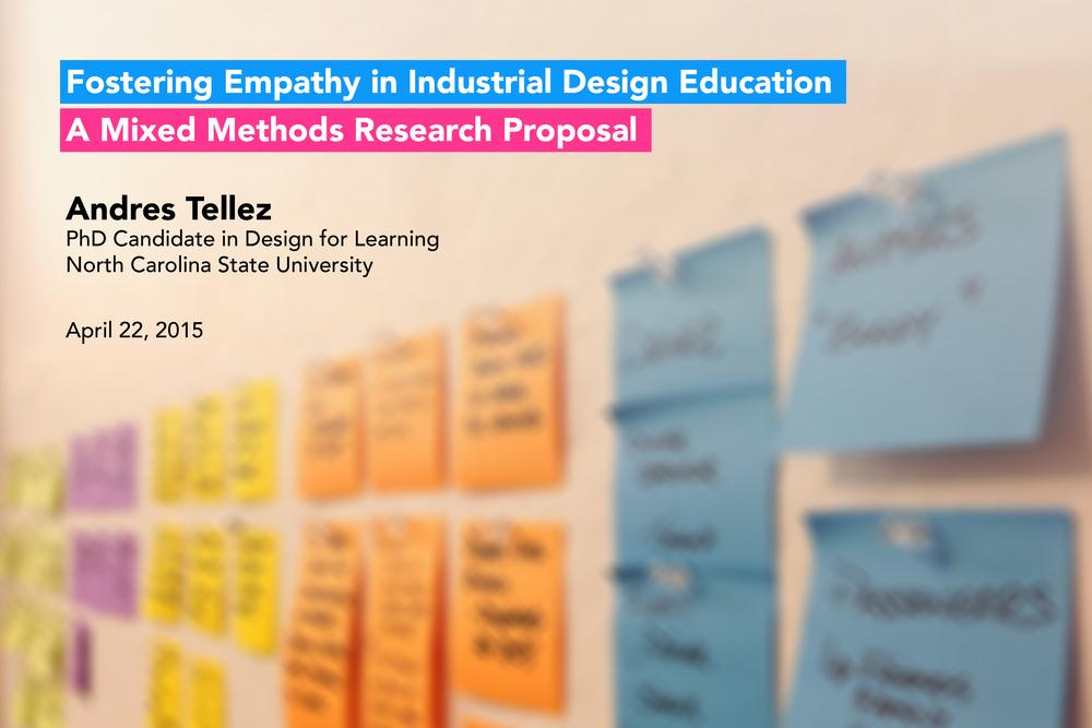 Fostering Empathy in Industrial Design Education
