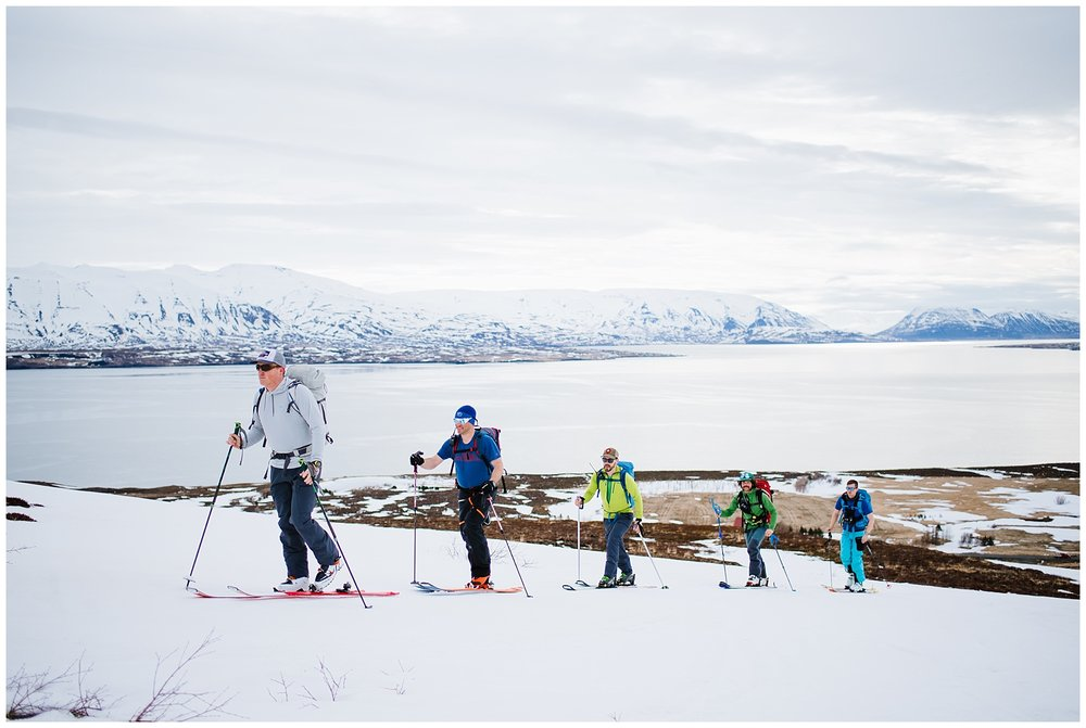 Our first day in Dalvik!  Thank you Bergmenn Mountain Guides for the rental skis that saved the day!