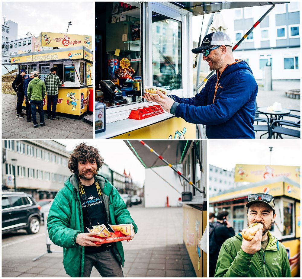 This is our second year returning to our favorite hot dog cart, Akureyri Hot Dog Stand in downtown Akureryi.  Best hot dogs in Iceland!