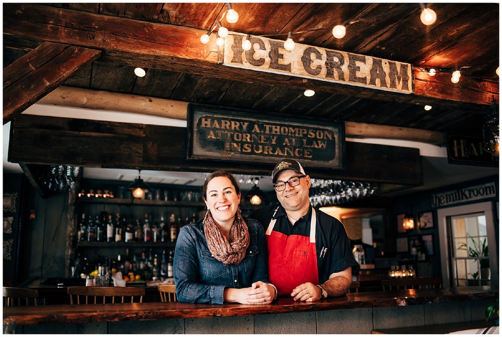 Jeff Fournier, Chef/Owner + Kate Fournier, Owner.