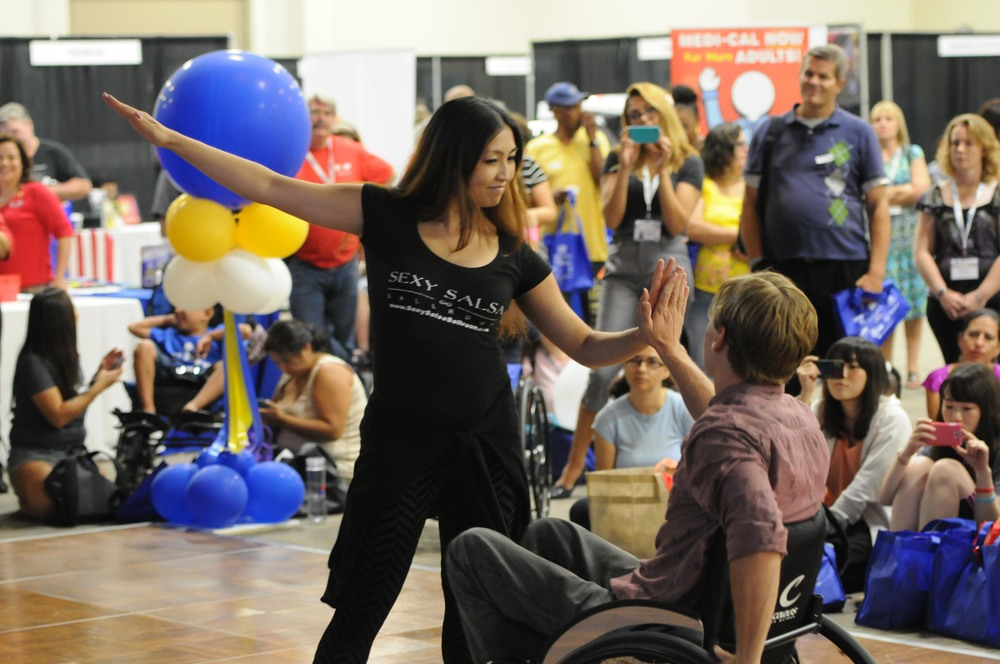 Picture of wheelchair dancing