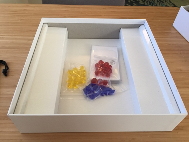 Tray, Gems and Apothecary Cards (they will be bagged differently in the final game)