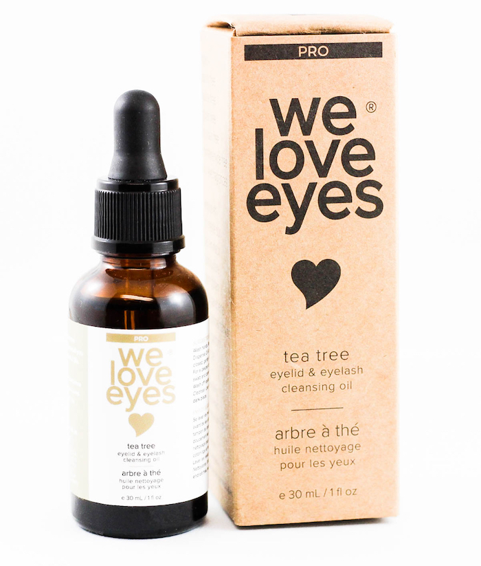 tea tree eyelid & eyelash cleansing oil