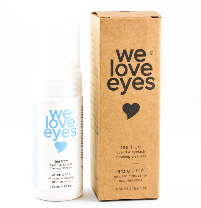 tea tree eyelid & eyelash foaming cleanser