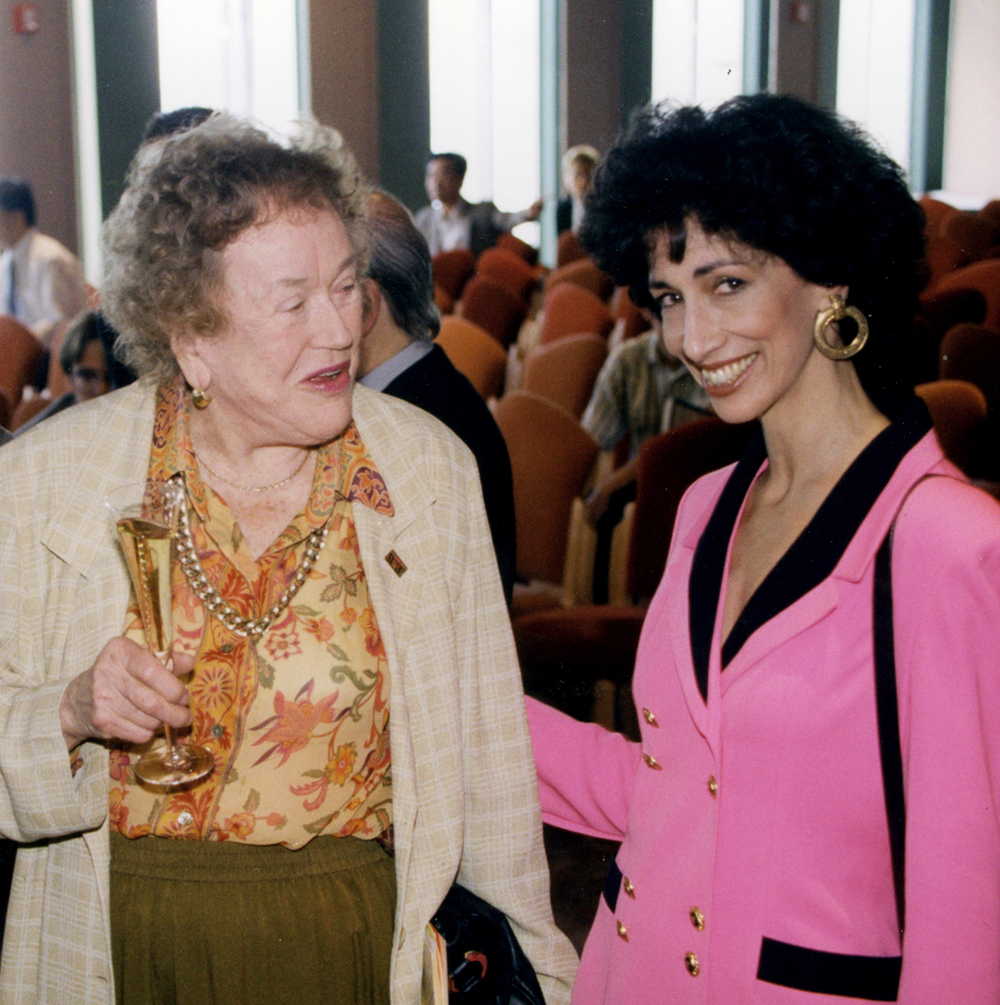 Julia Child and Rozanne at the re-opening of Windows on the World, created by the Joseph Baum & Michael Whiteman Co.