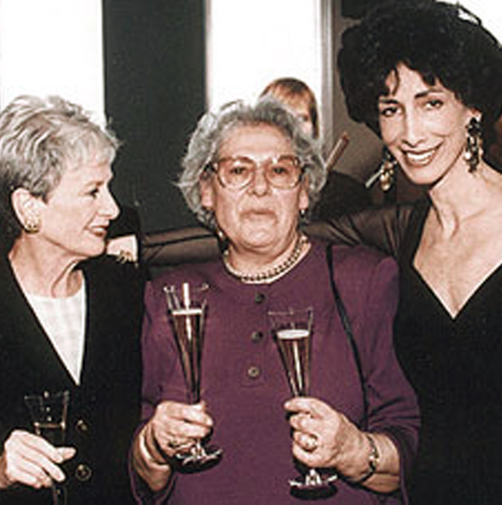 Barbara Kafka, Anna Teresa Callen and Rozanne at Gold's gala book party for  Recipes 1-2-3  at Windows on the World.