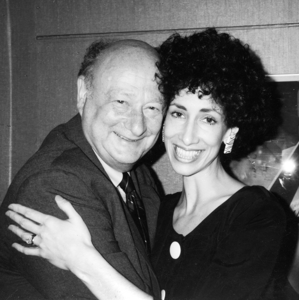 Ed Koch, Rozanne's former boss at Gracie Mansion, and Rozanne at the Rainbow Room.