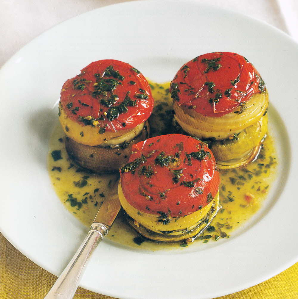 Little Tomato-Pesto Napoleons