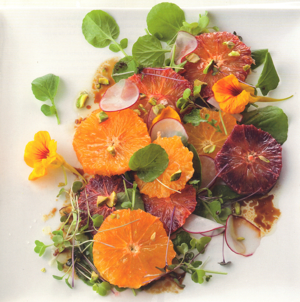 Arabic Orange Salad with Nasturtiums